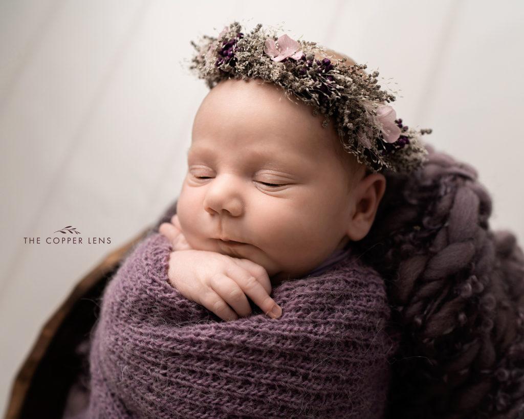 newborn baby girl photographer swansea